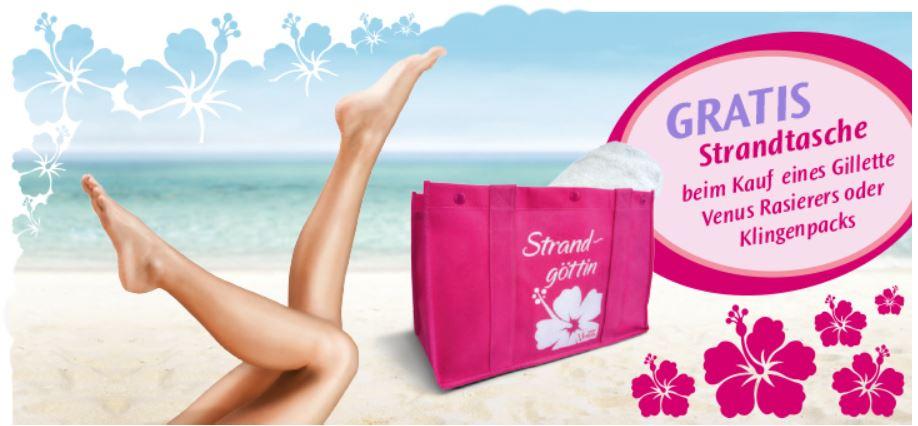 Kostenlose Strandtasche im Wert von 7€ beim Kauf eines Venus Rasierers oder Klingenpack (Prime) Update!