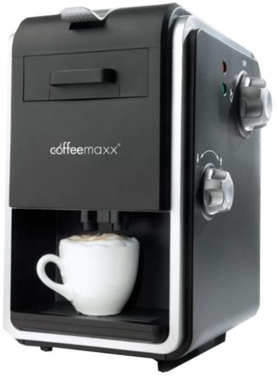 Coffee Maxx Kaffeemaschine   800W Padmaschine + Milchaufschäumer für 22,99€