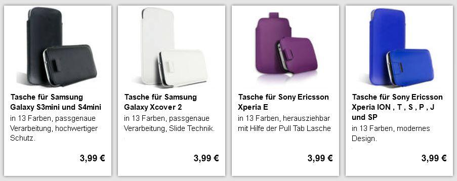 Smartphonetaschen für viele Handys nur 3,99€