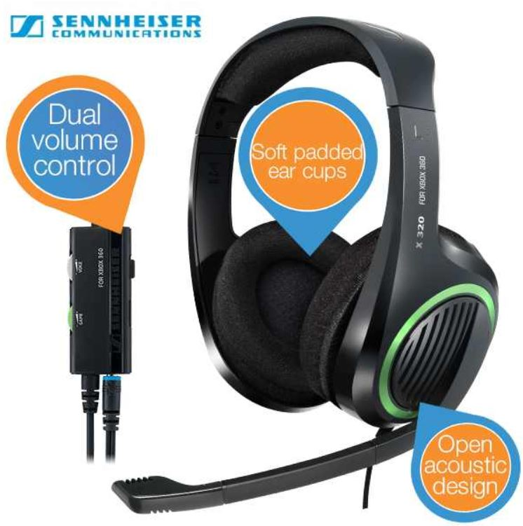 Sennheiser   X 320   Xbox 360 Gaming Headset für 32,90€