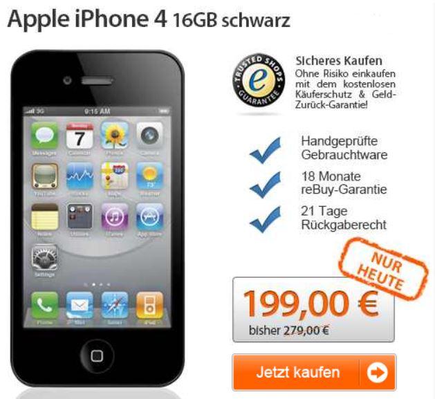 Apple iPhone 4 für nur 197,99€