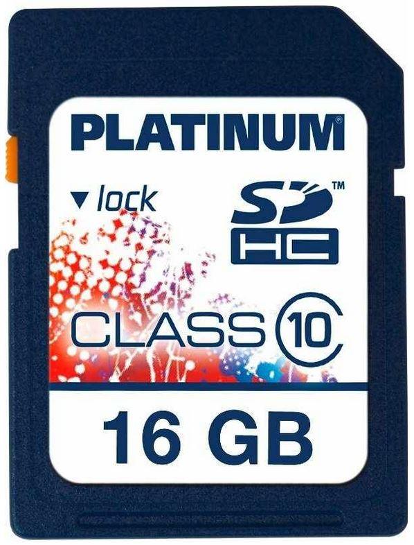 Platinum 16 GB SDHC Speicherkarte Class 10 für 9,99€