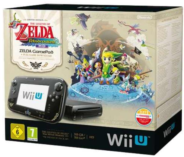 Nintendo Wii U Konsole mit The Legend of Zelda oder LEGO City für je 299€