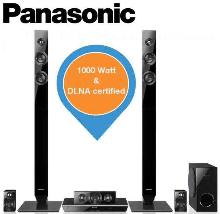 Panasonic SC   BTT460   5.1 Home Cinema System mit 3D Blu ray Player für 258,90€