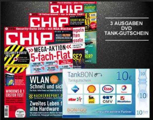 3 Ausgaben Chip für 9,99€ + 10€ Gutschein
