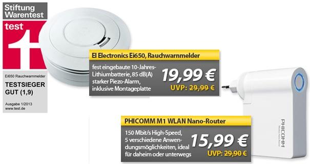 PHICOMM M1 WLAN Nano Router & Rauchmelder (war Testsieger)   OHA Deals