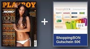 Playboy im Jahresabo für 66€ + 50€ ShoppingBon Gutschein