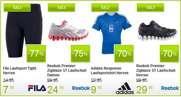 Plutosport Running Sale mit bis zu 70% Rabatt + 5€ Gutschein