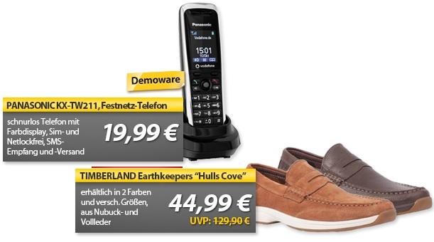 Panasonic KX TW211 GSM Schnurlos Telefon & Timberland Earthkeepers   OHA Deals