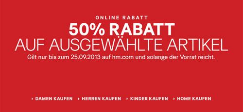 Bis zu 50% Rabatt auf ausgewählte Artikel bei H&M + weitere Gutscheine