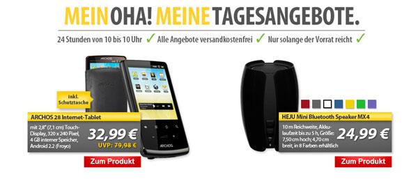 HEJU Bluetooth Speaker MX4 für 24,99€   OHA! Deals