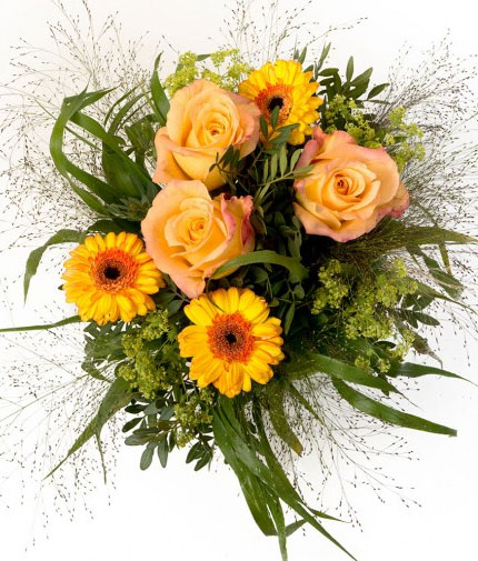 Blumenstrauß Lovely Peach für 10€ + 15% Gutschein bei Miflora   Update!