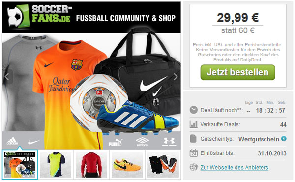 Günstige Fußballtrikots bei Soccer Fans Shop
