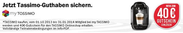 Update! Bosch Tassimo TAS 2002 für 35€   Multi Getränke Automat mit 40€ Tassimo Gutschein
