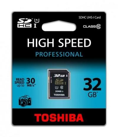 Toshiba 32GB SDHC für 17,50€   Class 10 UHS I