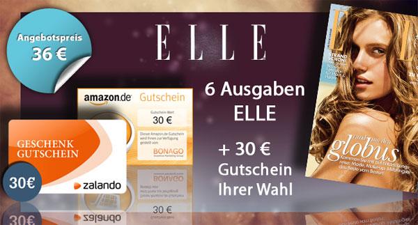 7 Ausgaben der ELLE für effektiv 6€