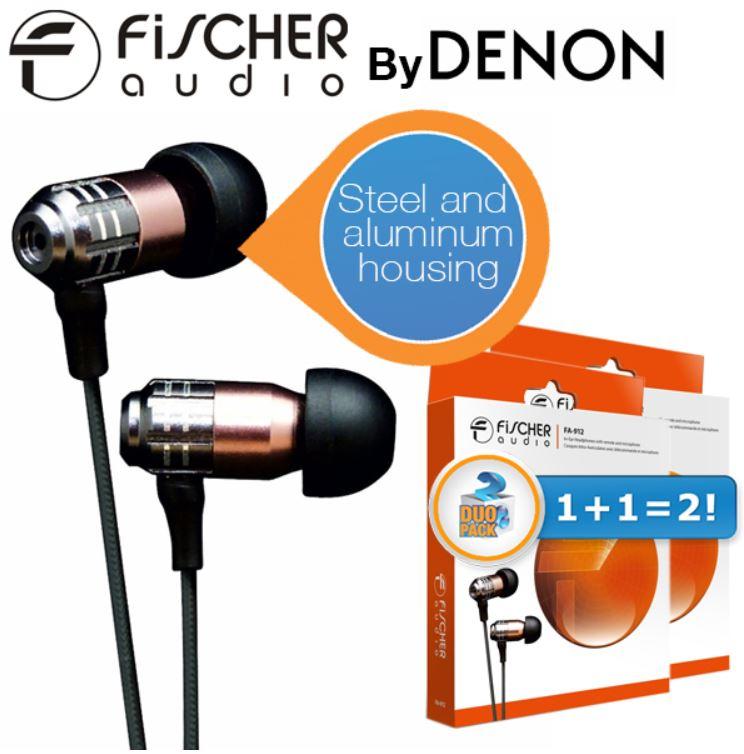 Fischer Audio FA 912 Duopack In Ears mit Inline Fernbedienung und Mikrofon für 45,90€