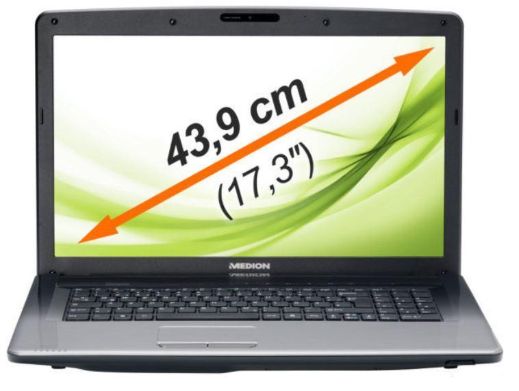 MEDION AKOYA E7226 MD 99420   17,3 Zoll Notebook mit 500GB und 4GB RAM für 249,99€