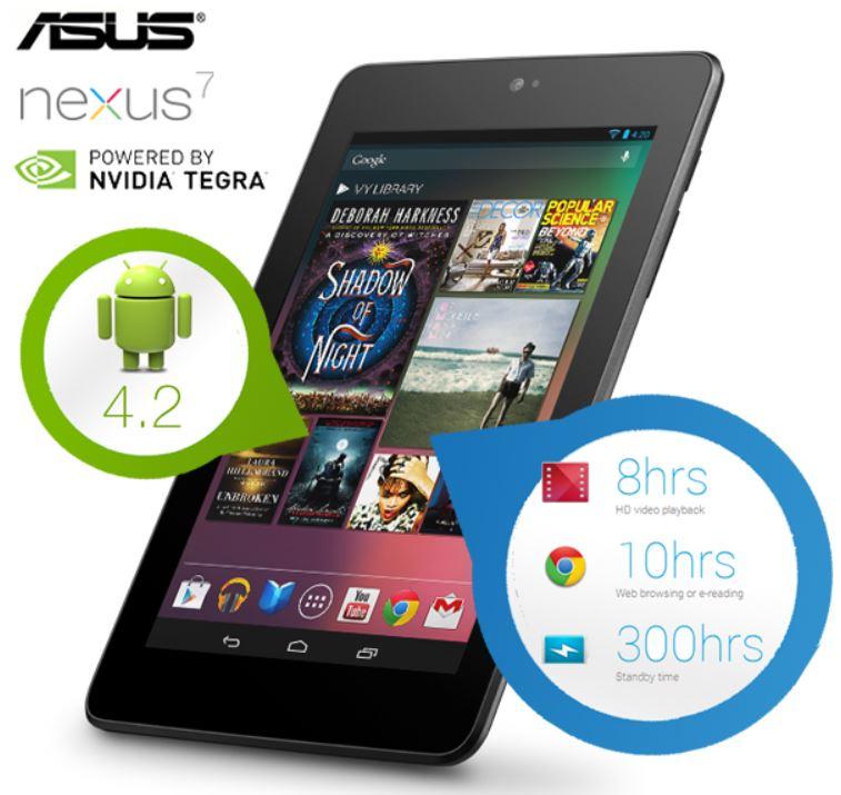 ASUS Google Nexus 7   8GB Android 4.2 Tablet (refurbished) für 135,90€