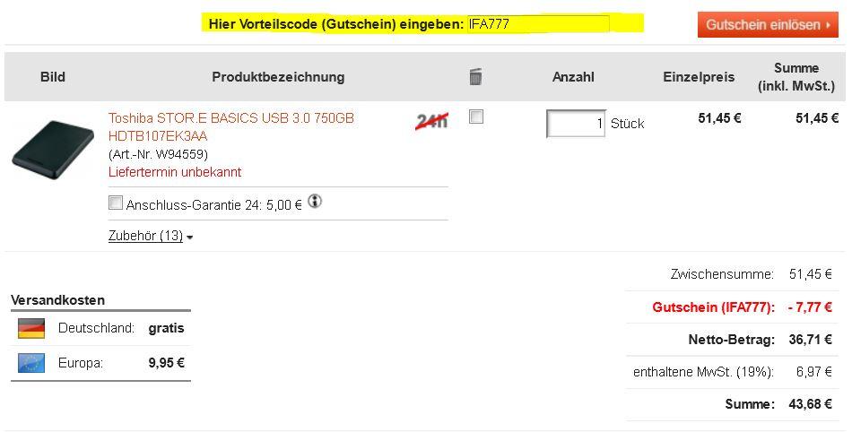 Neue digitalo.de Gutscheincodes z.B. Samsung SSD mit 120 GB für 81,07€   Update