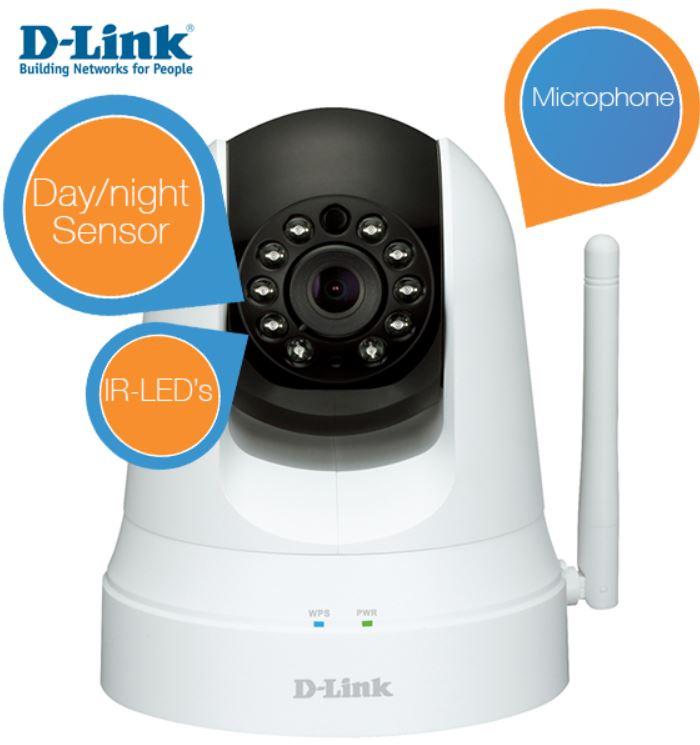 D Link   Pan&Tilt Wireless N Sound und Videoüberwachungs Kamera für 105,90€