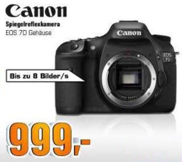 CANON EOS 7 D Gehäuse für effektiv 849€ dank Cashback und mehr SATURN SUPER SUNDAY Angebote!