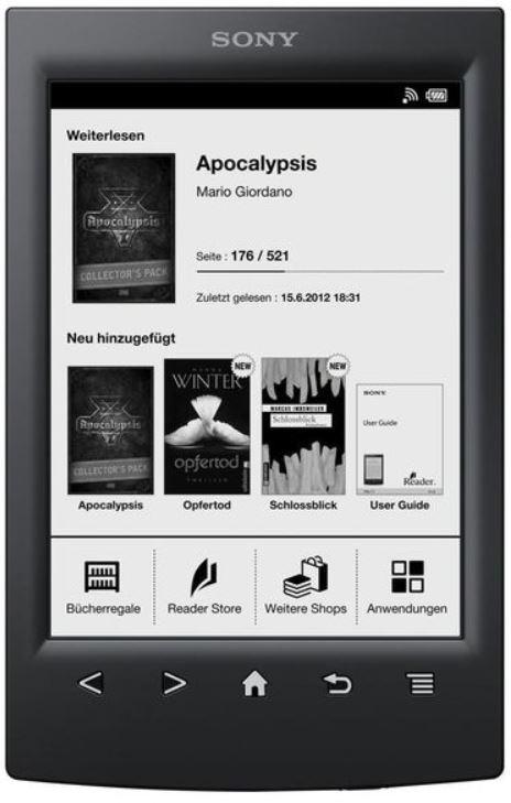 Sony PRS T2/BC   6Zoll eBook reader, E Ink mit WLAN für 94,90€