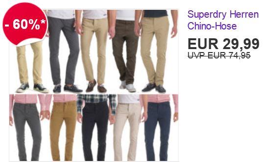 Superdry Commodity Chinohose, 10 verschiedene Modelle je 29,99€