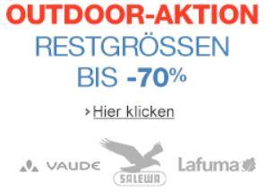 Outdoor Restposten mit  70% auf Vaude, Salewa, Lafuma und mehr