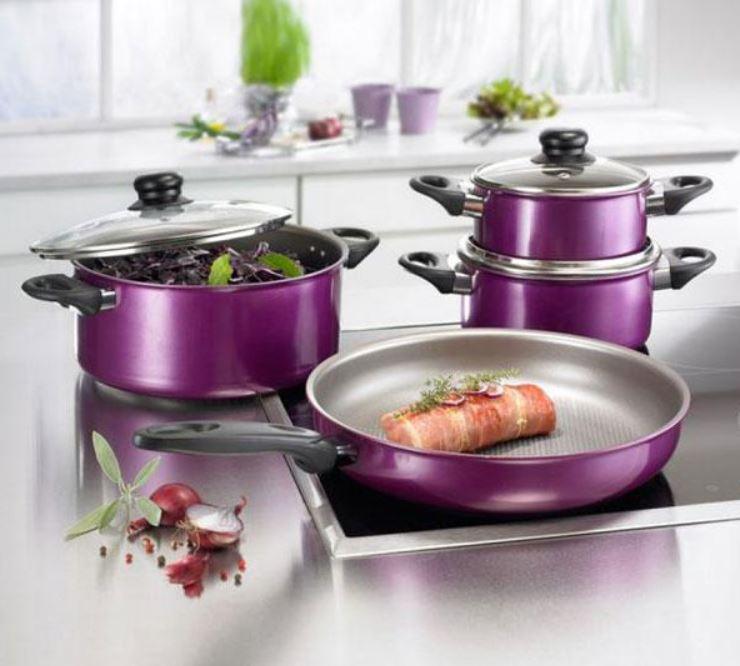 Beem Inducto Platinum   7 Teile Kochtopf Set mit Pfanne, Induktion geeignet für 34,99€