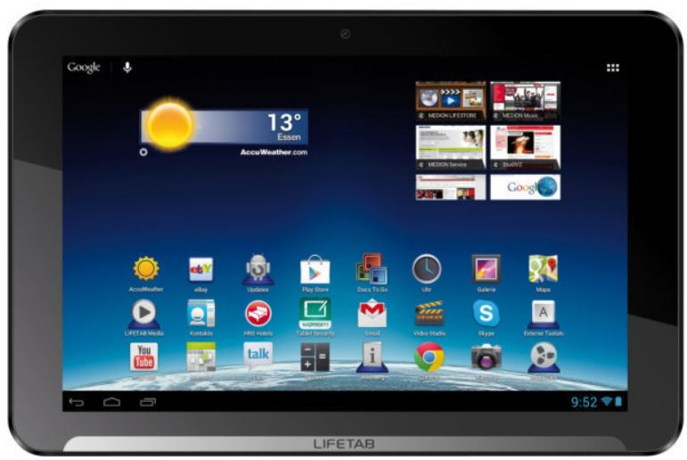 MEDION E10311   LIFETAB 10,1Zoll HD Multitouch Display mit 16GB, WLAN für 179€