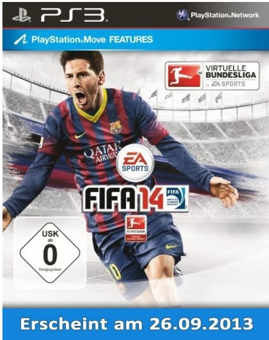 FIFA 14 (PS3) für 56,99€ + 15,60€ Rakuten Super Sale Cahback!