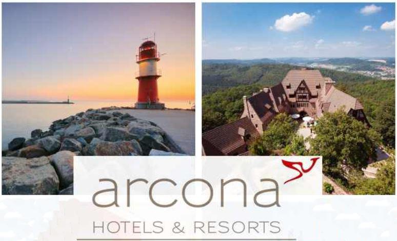 2 Übernachtungen für 2 Personen in einem der 15 arcona Hotels & Resorts + Steigenberger für nur 99€   wieder da!