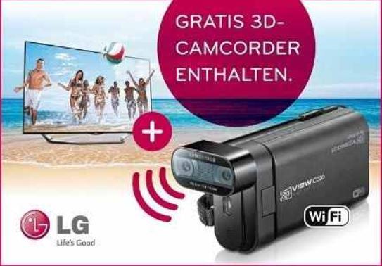 LG 55LA6918   55 Zoll Cinema 3D WLan Smart TV inkl. 3D Camcorder IC330 für 999€   wieder da!