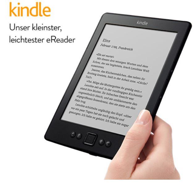 Kindle mit eInk 15cm Display, WLAN für nur 49€   Update!