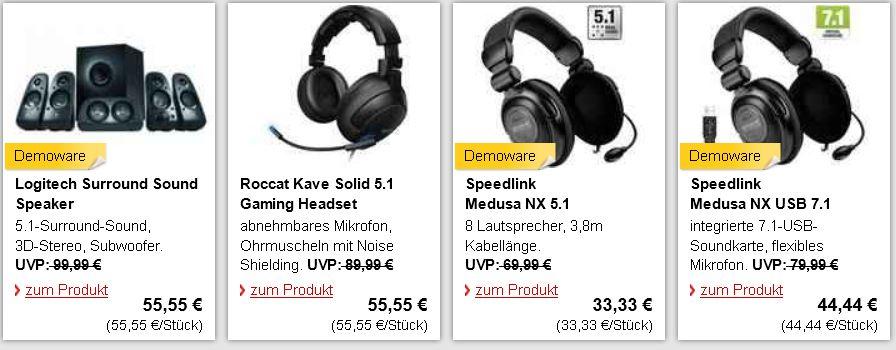 Speedlink Medusa NX USB 7.1 Surround Headset für 41,33€ und mehr neue B Ware bei MeinPaket!