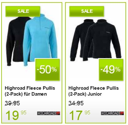 Softshells, Fleece und Thermokleidung mit bis 70% Rabatt!