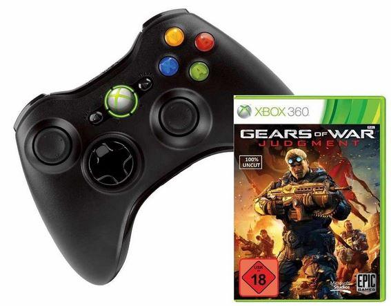 Xbox 360 Wireless Controller  & Gears Of War: Judgment (uncut) für 37,53€
