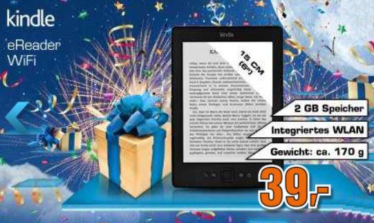 Kindle mit eInk 15cm Display, WLAN ab 39€   Update!