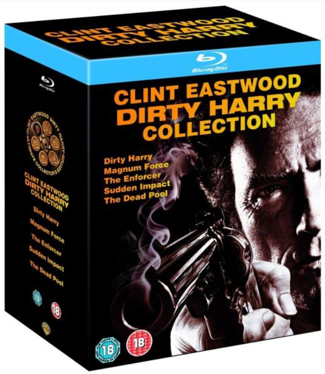 Dirty Harry Blu ray Collection mit 5 Filmen in deutsch für 13,35€