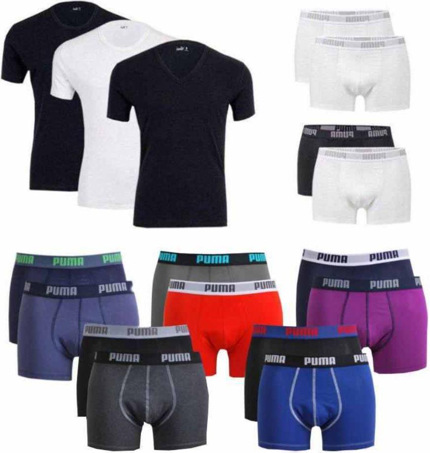 PUMA 4er Pack T Shirts oder Boxershorts, je 27,90€   wieder da!