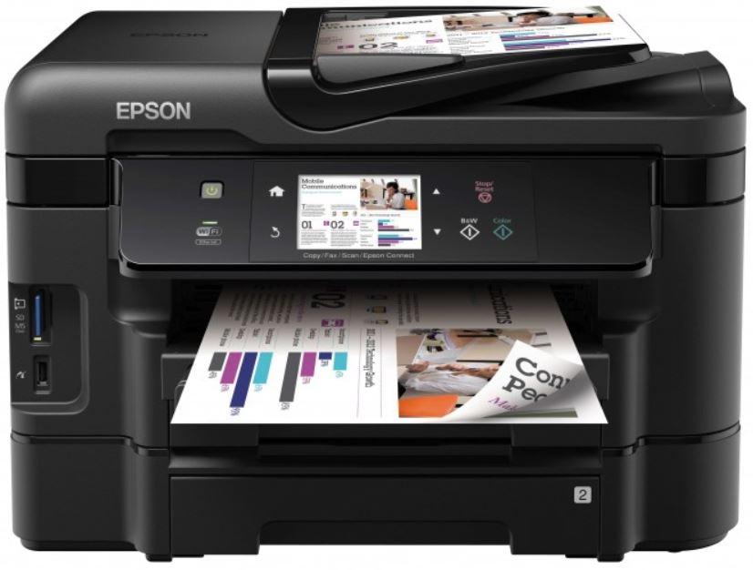 Epson WF 3540DTWF, WorkForce   Tintenstrahldrucker, Scanner, Kopierer, Fax für 119€