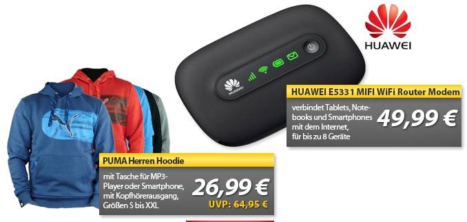 Huawei E5331 MIFI Wifi Router & Puma Hoodie   OHA Deals