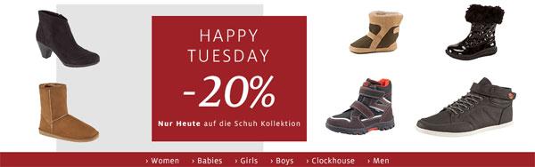 20% Rabatt auf die gesamte Schuh Kollektion bei C&A