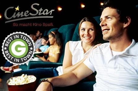 4 Cinestar Kinokarten + 4x Popcorn für 28€