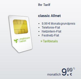 Allnet Telefon Flat von mobilcom debitel für effektiv 2,49€ monatlich dank 180€ Tankgutschein