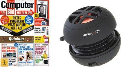 6 Ausgaben Computer Bild mit DVD + Raikko XS Vacuum Speaker für 15,50€
