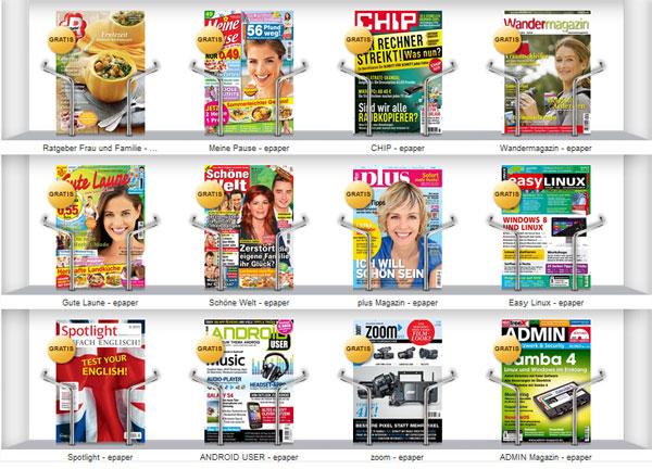 3 gratis E Paper im PresseKatalog – chip, Android User und 10 weitere Zeitschriften