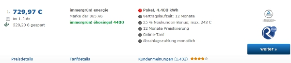 20€ Amazon Gutschein für den Stromanbieter Wechsel bei check24