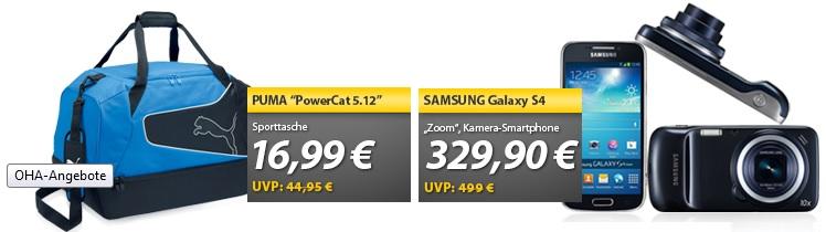 Samsung Galaxy S4 Zoom Smartphone & Puma Sporttasche   OHA Deals
